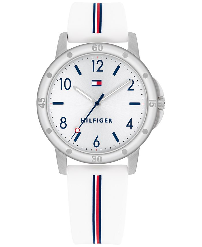 Tommy Hilfiger - Kid's White Silicone Strap Watch 34mm