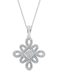 "Diamond 18"" Pendant Necklace (3/4 ct. t.w.) in 14k White Gold"