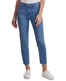 Calvin Klein Jeans High-Rise Raw Hem Ankle Jeans