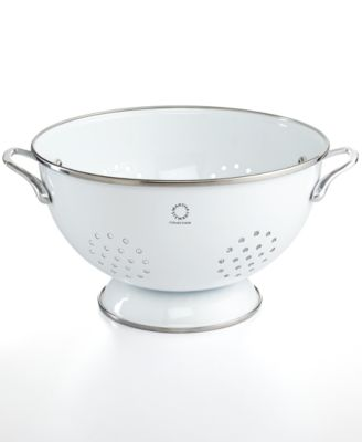 Martha Stewart Collection Enamel on Steel 5 Qt. White Colander, (Only at Macy's)