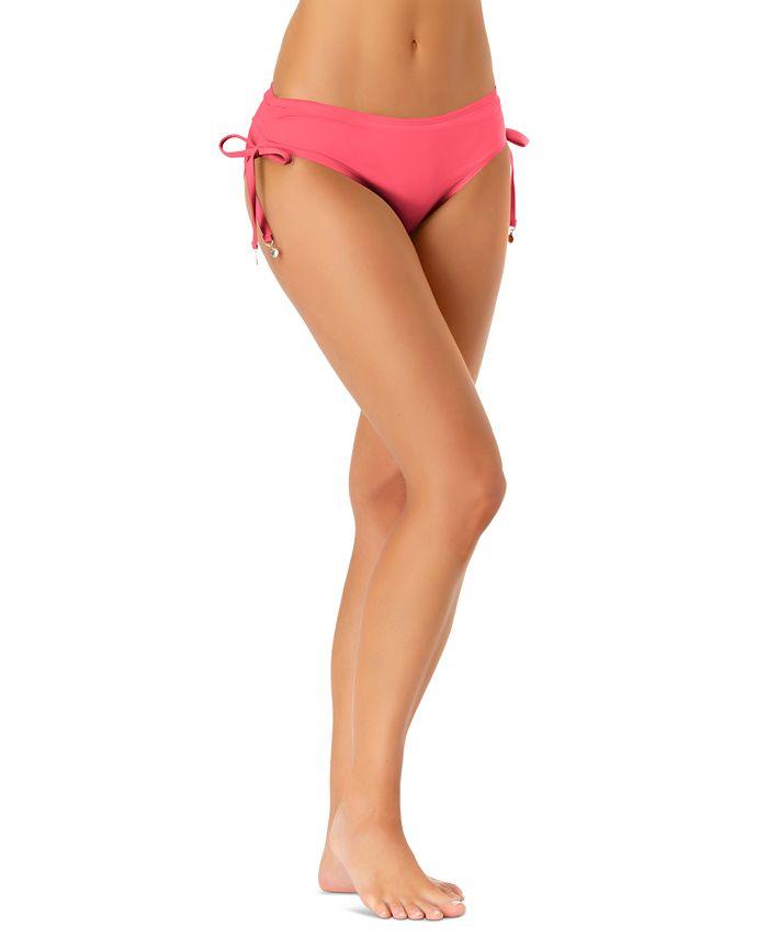 Anne Cole - Ruched-Side Bikini Bottoms