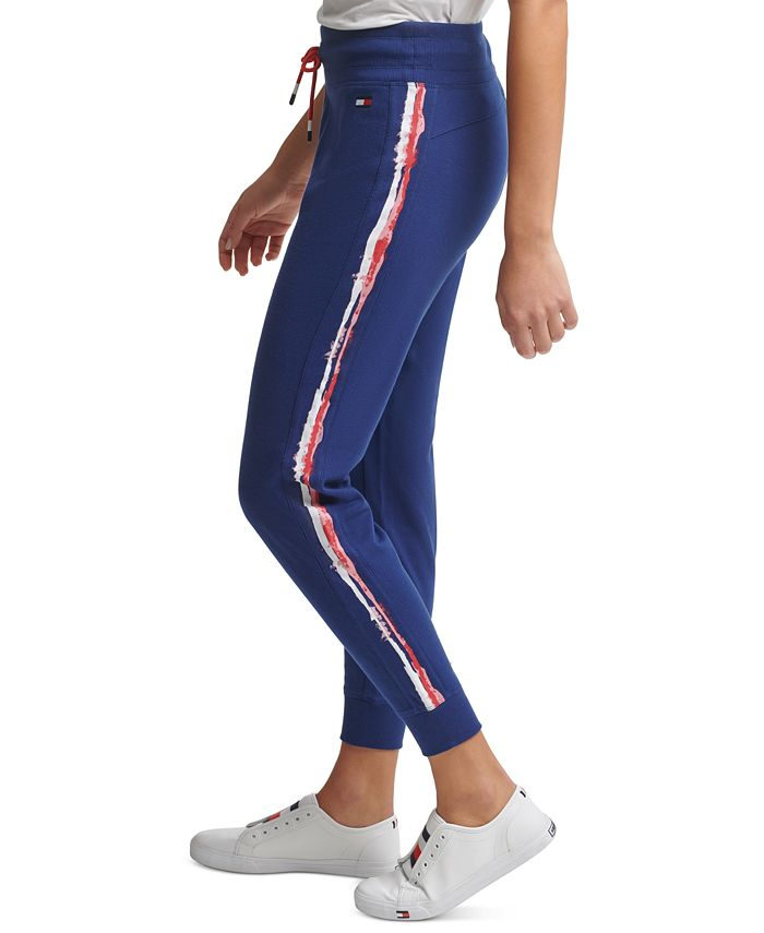 Tommy Hilfiger - Printed Stripe Logo Jogger Pants
