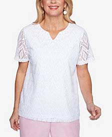 Plus Size Classics Diamond Lace Top