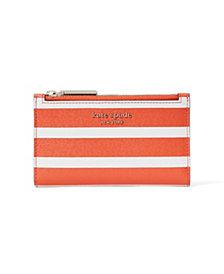 kate spade new york Spencer Stripe Small Slim Bifold Wallet