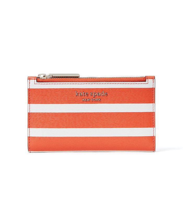 kate spade new york - Spencer Stripe Small Slim Bifold Wallet