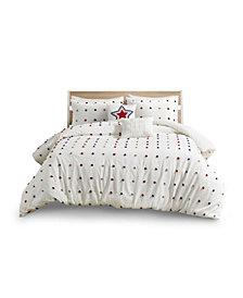 Urban Habitat Kids Callie Full/Queen Cotton Jacquard Pom Pom Comforter, Set of 5