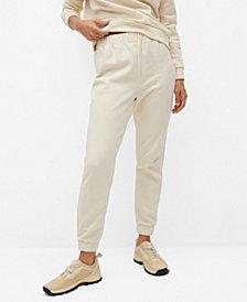 MANGO Women's Cotton Jogger-Style Trousers