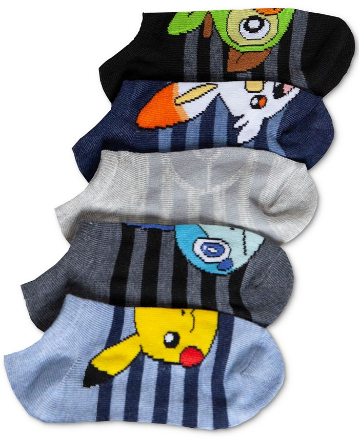 Pokemon - Little Boys 5-Pk. No-Show Socks