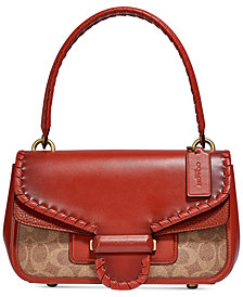 COACH Cody Shoulder Bag In Signature Canvas With Whipstitch