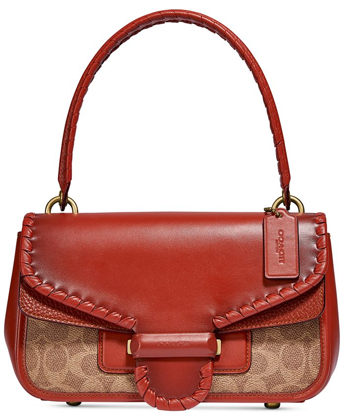 COACH - Cody Shoulder Bag In Signature Canvas With Whipstitch