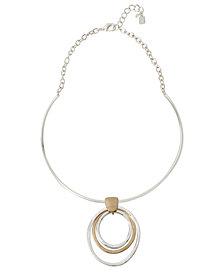 Robert Lee Morris Soho Oval Disc Pendant Necklace