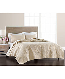 Martha Stewart Collection Batik Embroidery Twin Quilt, Created for Macy's