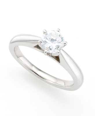 3/4 ct. t.w. Round-Cut Diamond & Platinum Engagement Ring