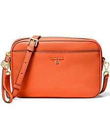 MICHAEL Michael Kors Jet Set Charm East West Leather Camera Crossbody