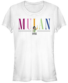 Juniors Disney Princesses Mulan Title T-Shirt