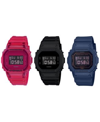 Men's Digital Pastel Blue Resin Strap Watch 42.8mm