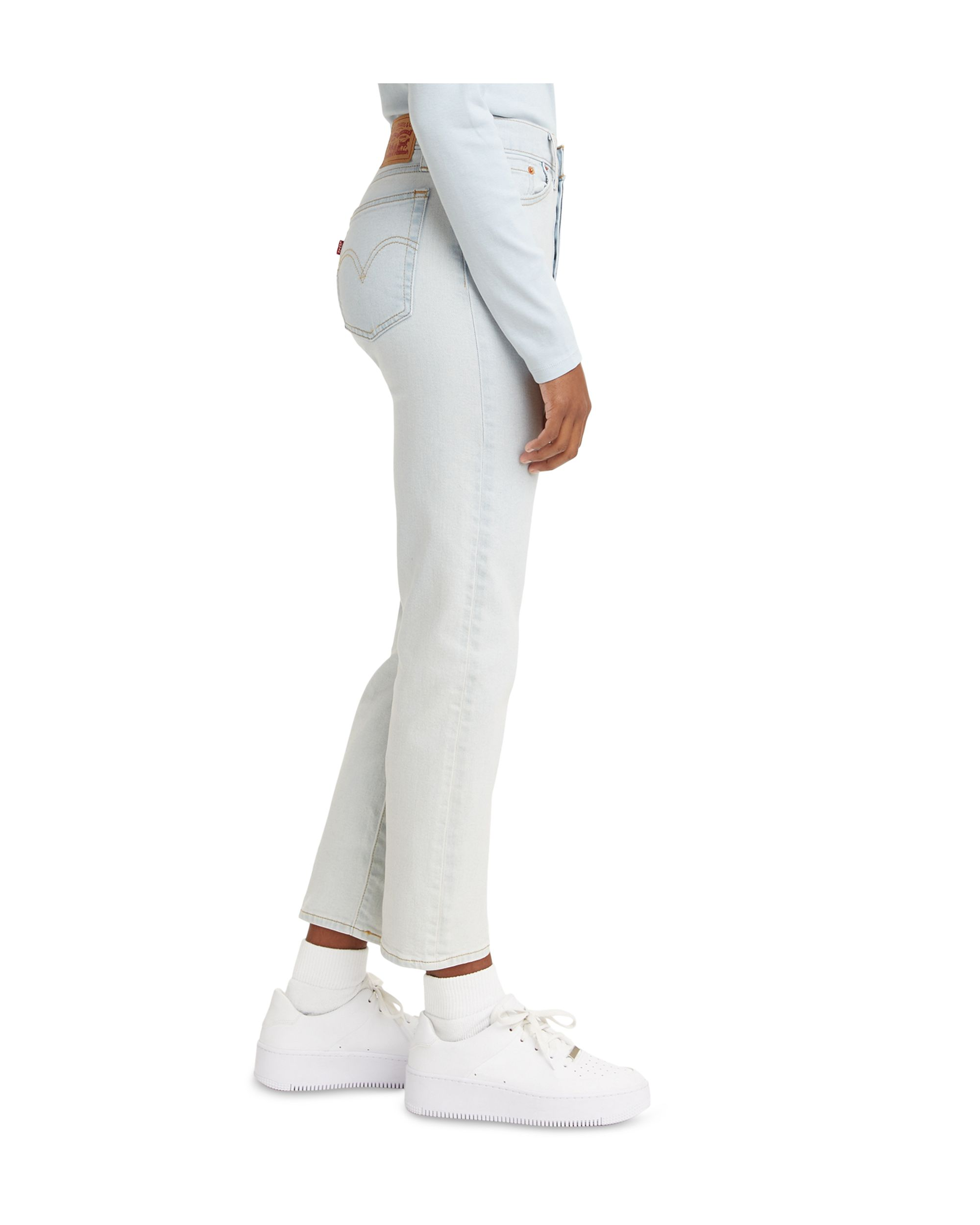 Women\'s Wedgie Straight-Leg Cropped Jeans Space Ripple