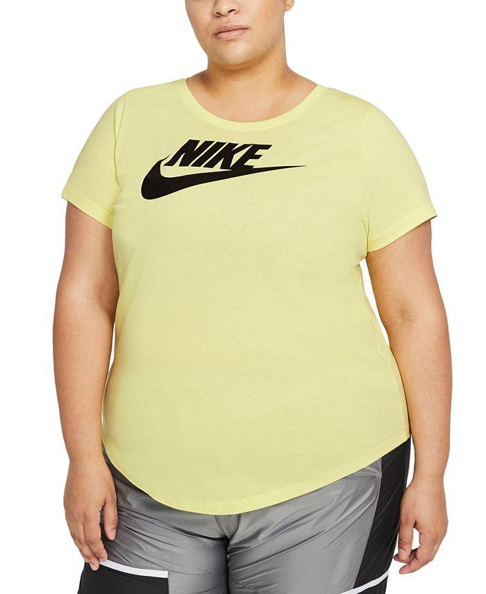 Nike - Plus Size Sportswear Cotton Logo T-Shirt