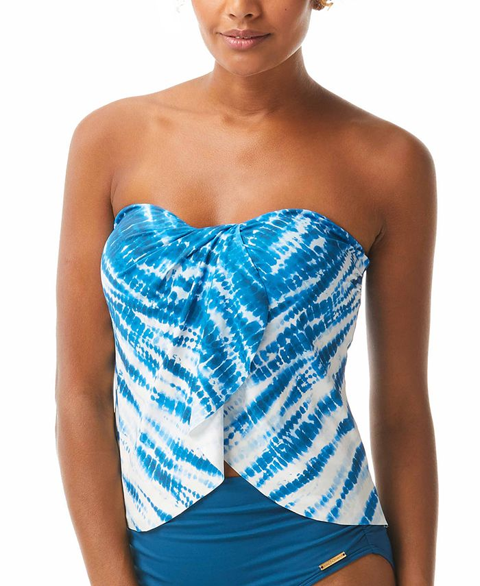 Vince Camuto - Striped Draped Bandeau Bikini Top