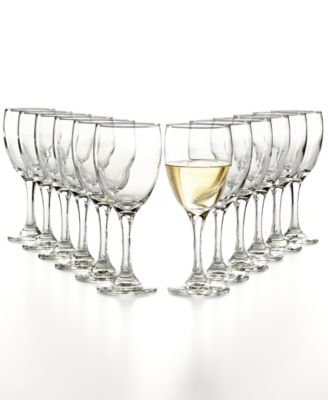 The Cellar Glassware Basics 12-Pc. White Wine Set, Only at Macy's