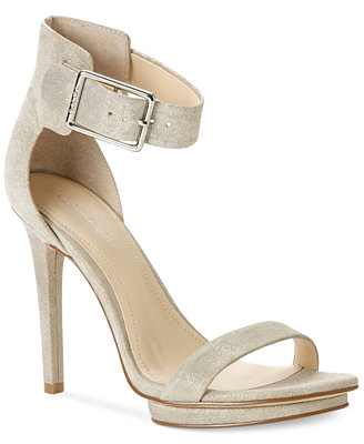 calvin klein s high heel sandals sandals
