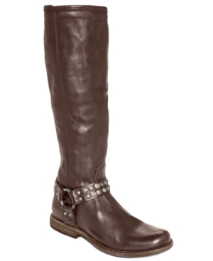 Frye Women's Phillip Studded Harness Tall Boots Women's Shoe