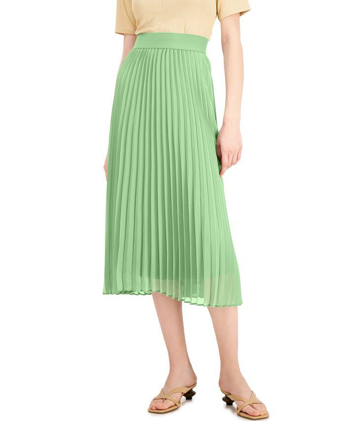 Alfani - Pleated Midi Skirt
