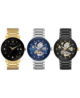 Men's Futuro Black Stainless Steel Bracelet Watch 42mm