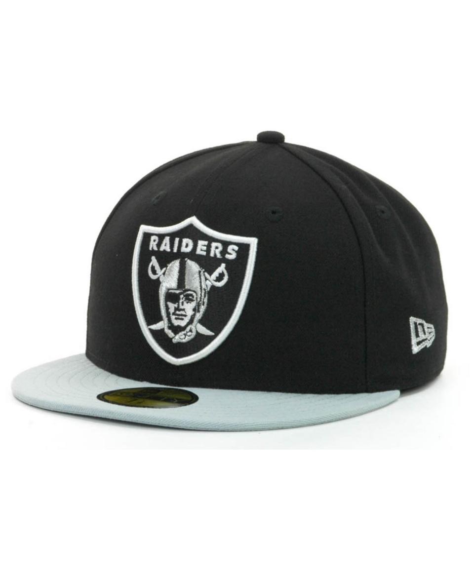 New Era Oakland Raiders NFL Black Team 59FIFTY Cap   Sports Fan Shop By Lids   Men