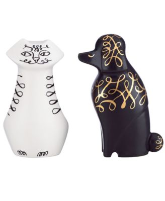 kate spade new york Woodland Park Cat and Dog Salt & Pepper Shakers
