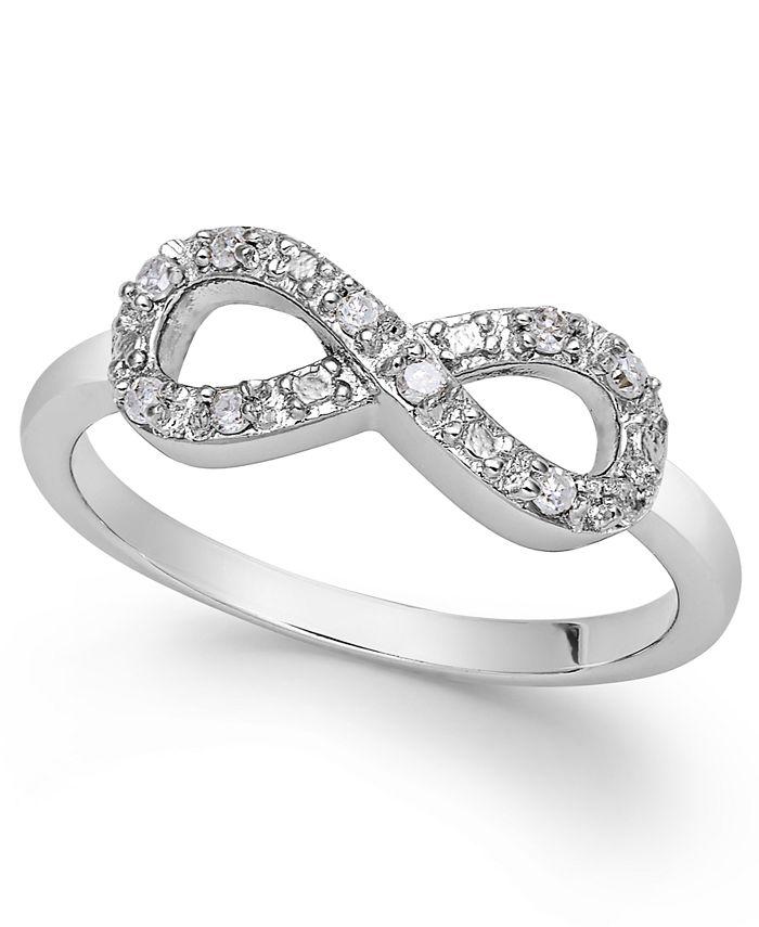 Macy's - Diamond Infinity Ring in Sterling Silver (1/10 ct. t.w.)