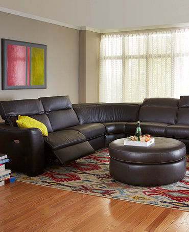 Alessandro Leather Sectional Living Room Furniture Collection Furniture M