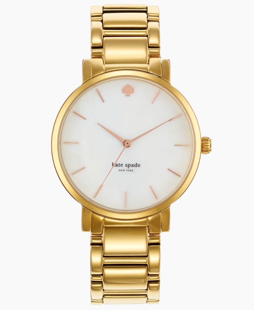 kate spade new york Watch, Womens Gramercy Grand Gold Tone Stainless Steel Bracelet 38mm 1YRU0009   Watches   Jewelry & Watches