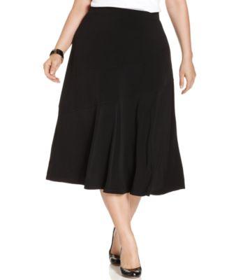 kasper plus size pleated skirt wear to work macy s