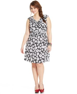 American Rag Plus Size Sleeveless Printed A-Line Dress, Macy's, $52.99