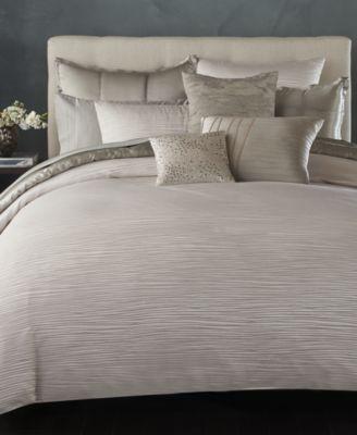Donna Karan Home Reflection Silver King Duvet Cover