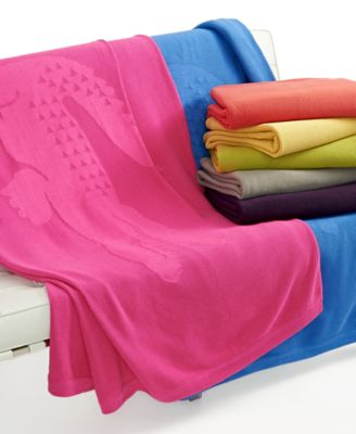 Lacoste Home, Crocoknit Throw Collection Bedding