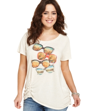 Style & co. Plus Size Shade-Print Tee