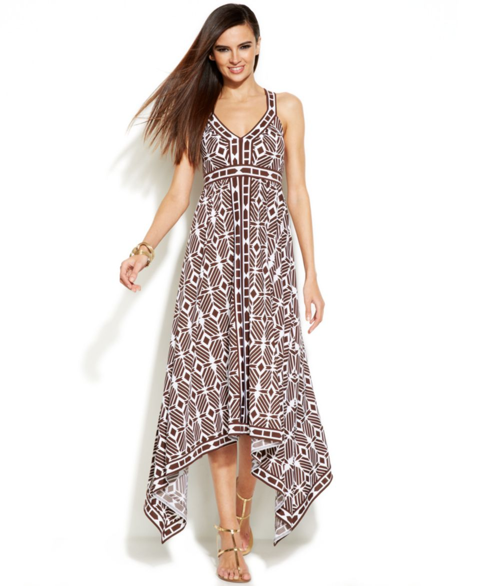 INC International Concepts Dress, Sleeveless Handkerchief Hem Maxi