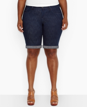 Levi's Plus Size Bermuda Denim Shorts, Dark Star Wash