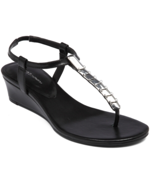 BCBGeneration Jasper Wedge Thong Sandals Women's Shoes