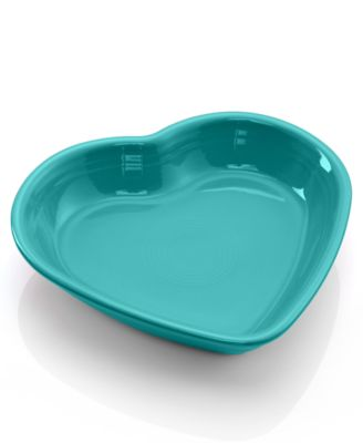 Fiesta Turqouise Medium Heart Bowl