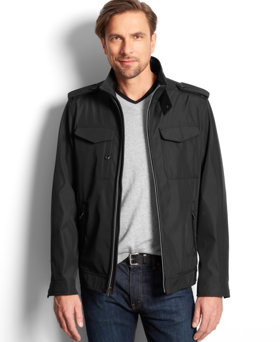 Perry Ellis Portfolio Big and Tall Lightweight Moto Jacket   Coats & Jackets   Men