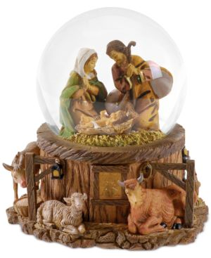 Roman Fontanini Nativity Lighted Snow Globe