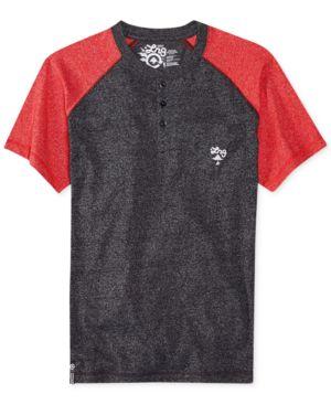 Lrg Cc Henley Colorblocked T-Shirt