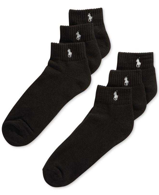 Polo Ralph Lauren Classic Quarter Socks 6 Pairs