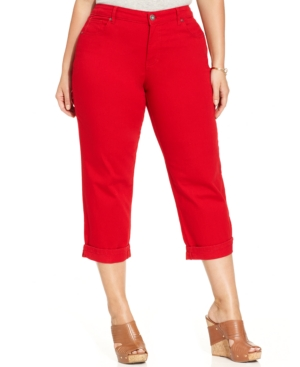 Style & co. Plus Size Roll-Cuff Denim Capris