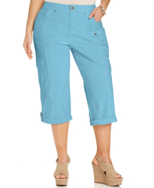 Style & co. Plus Size Cuffed Cargo Capri Pants