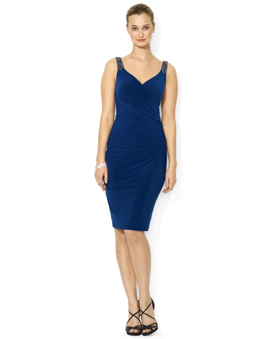 Lauren Ralph Lauren Sleeveless Beaded Sweetheart Dress   Dresses   Women