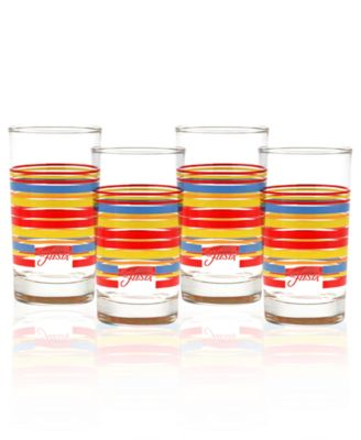 Fiesta Set of 4 Classic Stripe Juice Glasses